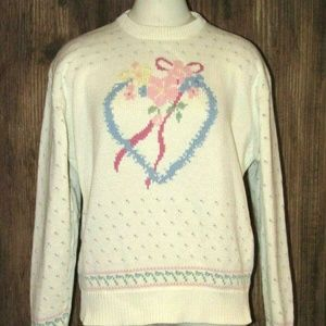 Eddie Bauer Sweaters - Vintage 1989 Eddie Bauer Heavy Cotton Knit Sweater